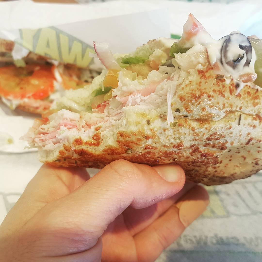 Letztes Sub… ab morgen Hardcore Diät & Sport! #subway #sandwich #food #essen #fitness #diet #diät #lecker #yummy #foodporn #henkersmahlzeit