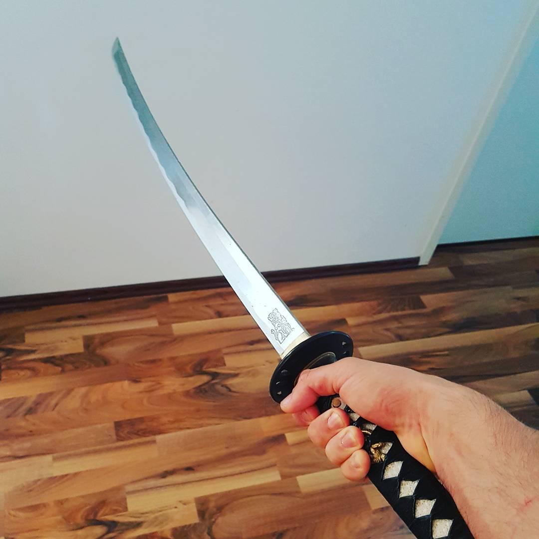 Ich mache keine halben Sachen im Leben… außer, wenn ich meine Feinde mit dem Schwert in der Mitte durchhacke! 💪🏻💣☝️💥 . #bossspruch #des #tages #realtalk #katana #samurai #schwert #hattorihanzo #killbill #dont #mess #with #the #boss